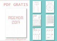 Agenda 2017 con 381 paginas gratis para imprimir o usar digitalmente