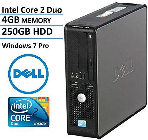 dell optiplex 780 sff desktop business computer pc intel dualcore 293ghz processor 4gb ddr3 memory 250gb hdd dvd windows 7 certified