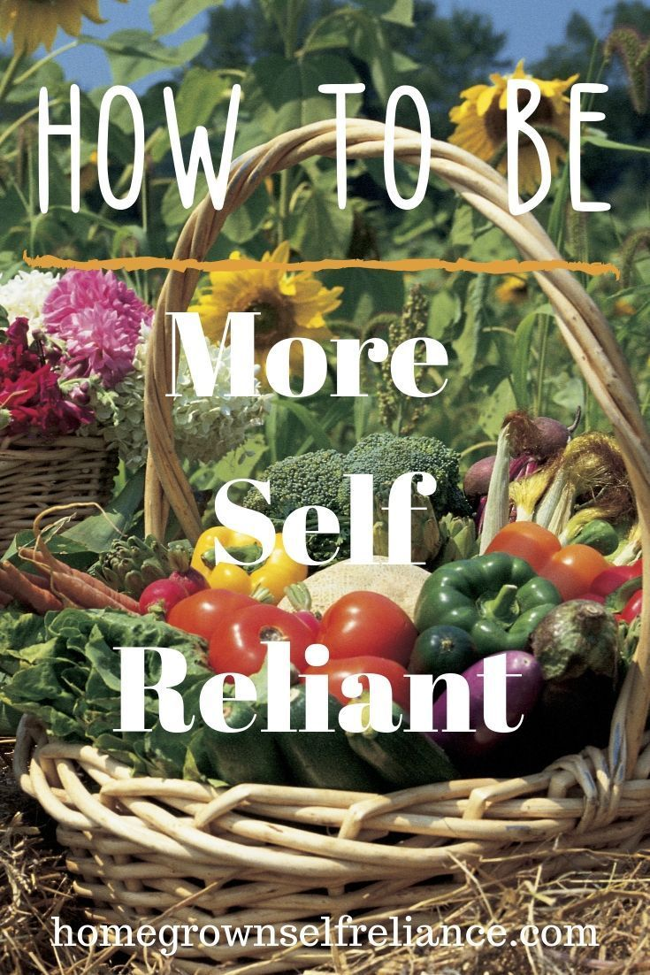 How To Be More Self Reliant Grow Your Own Make Your Own Be