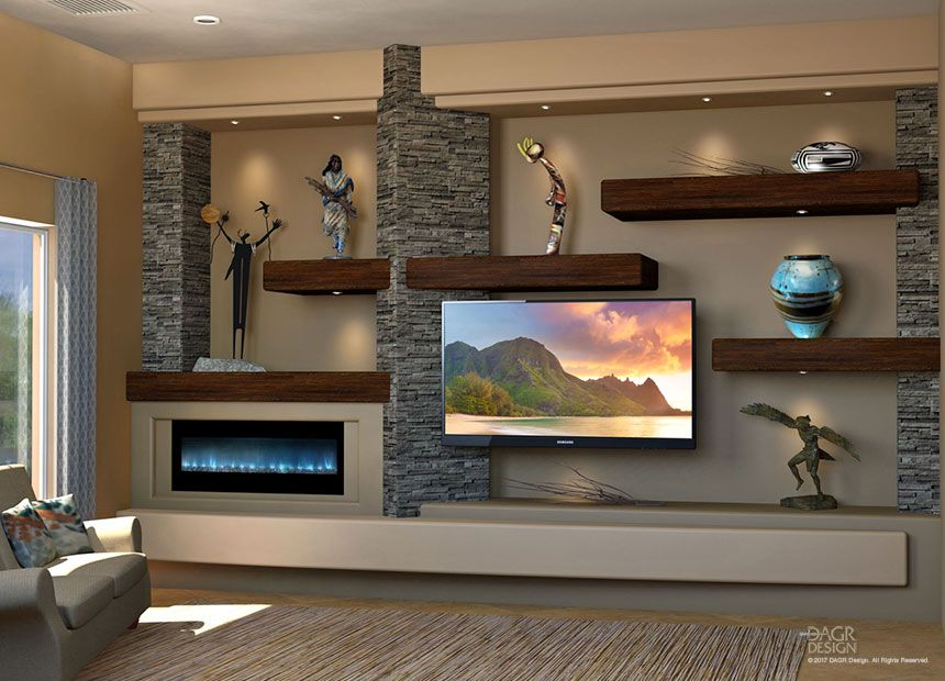 A Floating Shelves Custom Media Wall Design Is A Highly Personaliz Home Entertainment Centers Modern Entertainment Center Floating Shelves Entertainment Center
