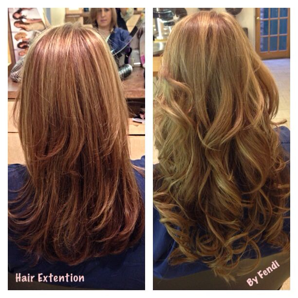 My Works Before And After Permanent Hair Extention Hair