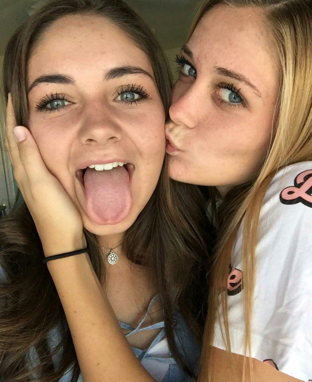 Think, teen girls tongue kissing