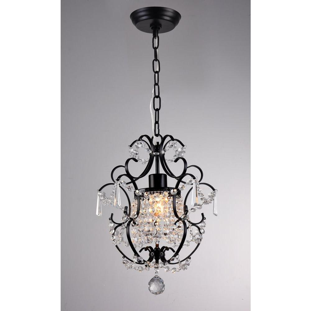 Ava 11 In Black Indoor Crystal Chandelier With Shade Rl4025bl Black Crystal Chandelier Warehouse Of Tiffany Crystal Chandelier