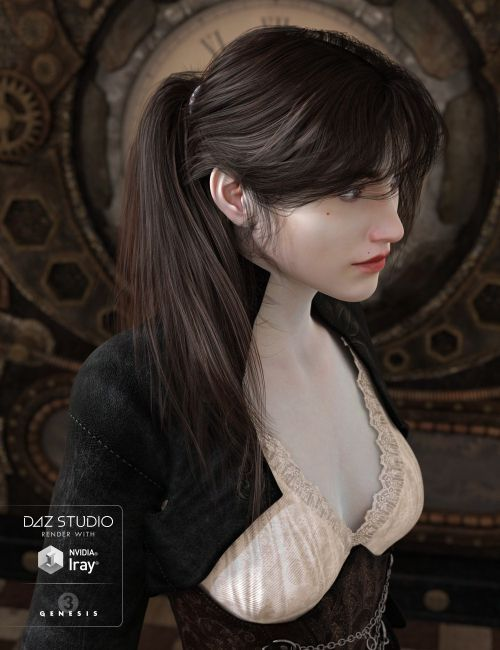 Hy Updo Hair For Genesis 3 Female S