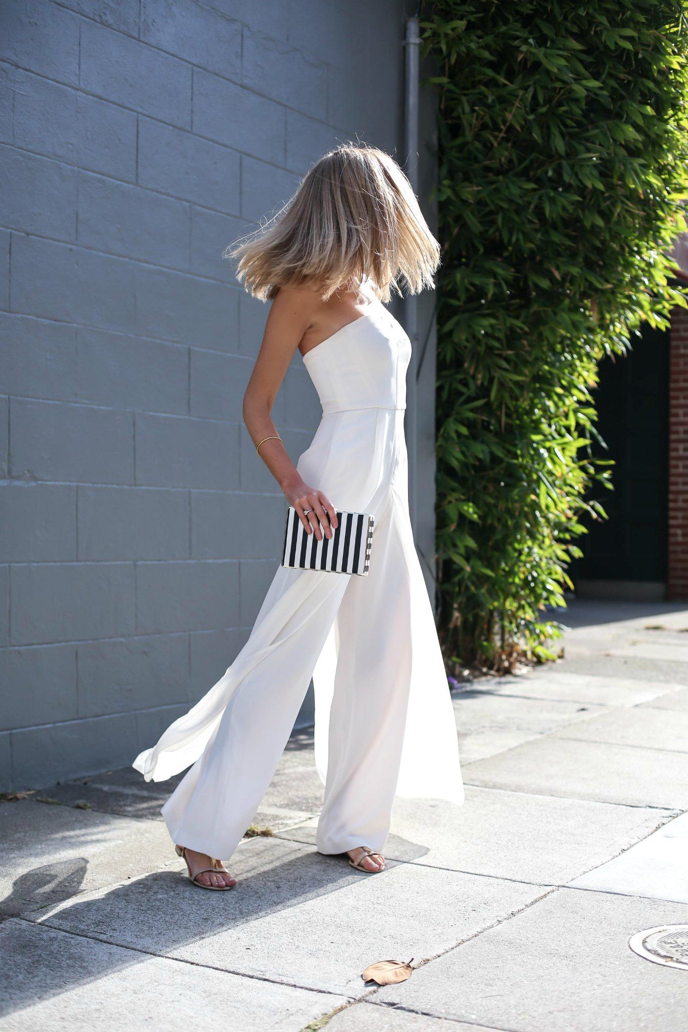 faa63b985d White Strapless Jumpsuit for Our Anniversary
