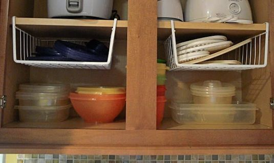 12 Easy Kitchen Organization Tips Hanging Shelf Dividers Help Utilize Vertical E