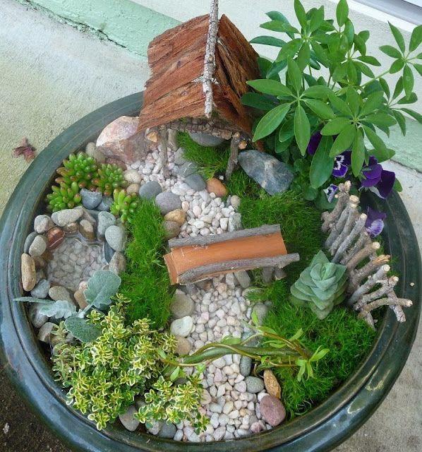 Do You Believe In Fairies? Mini jardins, Jardins et Fée