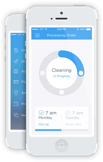 An App For Outsourcing Your Laundry Home Purewow Chicago Laundry App Digital Business Card Laundry Design