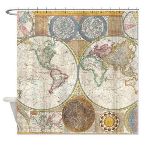 Rice Paper for Decoupage Scrapbooking Sheet Vintage Old Atlas