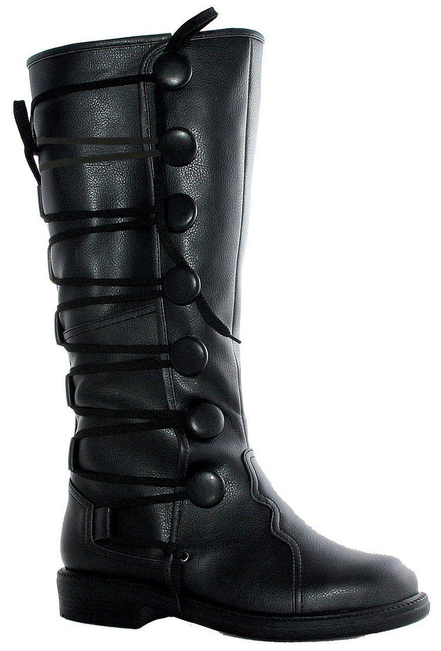 Mens Black Renaissance Costume Boots Renæssancestøvler  Renaissance boots
