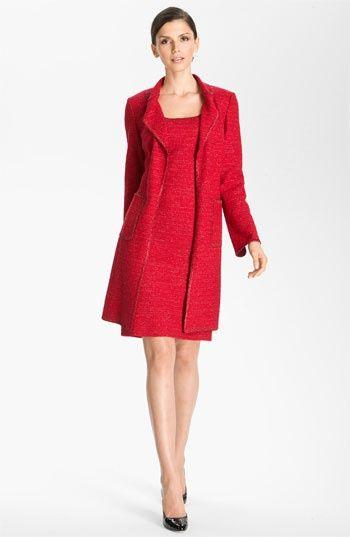 Long Sleeve Red Sheath Dress