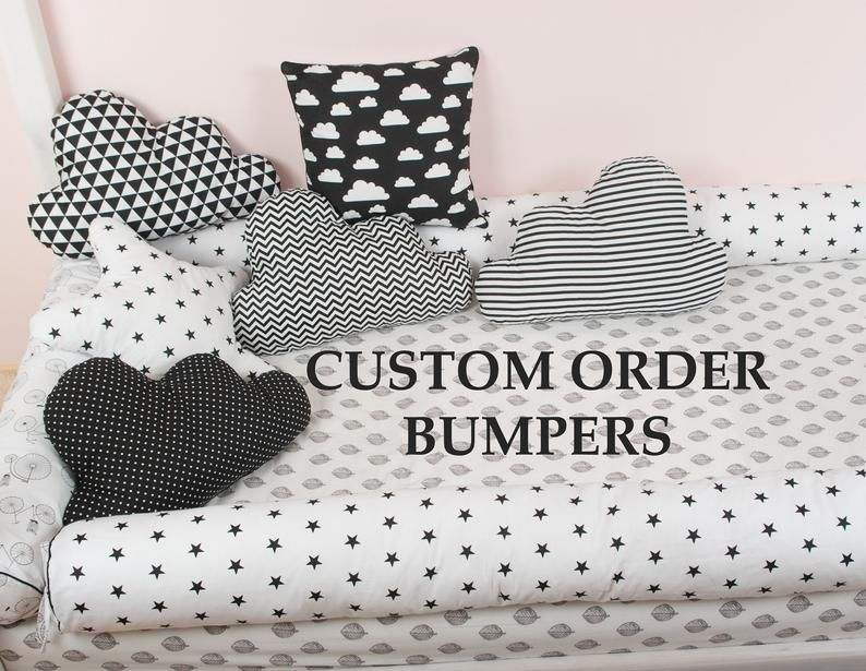 Custom order for montessori bed bumpers toddler bed lit