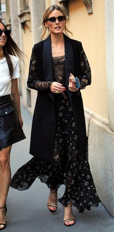 Olivia Palermo in Etro and Ermanno Scervino attends Milan Fashion Week. #bestdressed