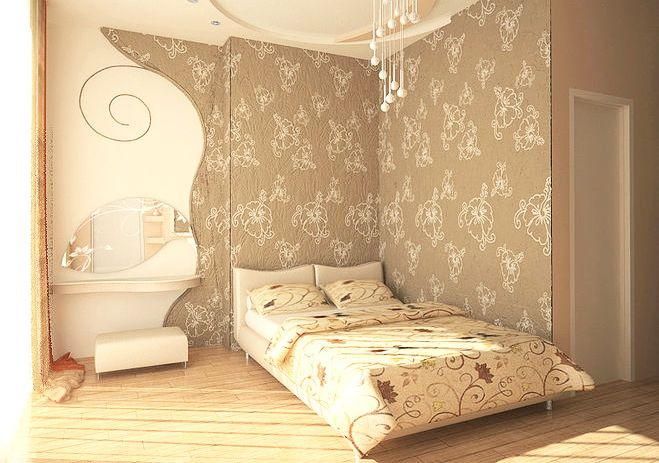 Комбинирование обоев в спальне (с изображениями) | Дизайн ...