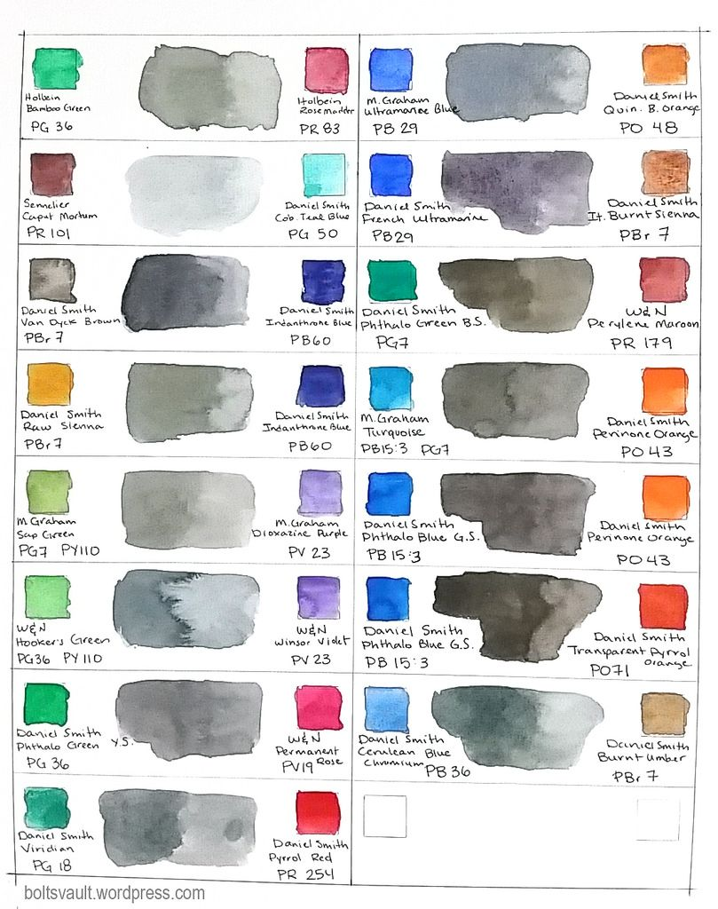 Neutral Mixes In Watercolor In 2020 Watercolor Painting