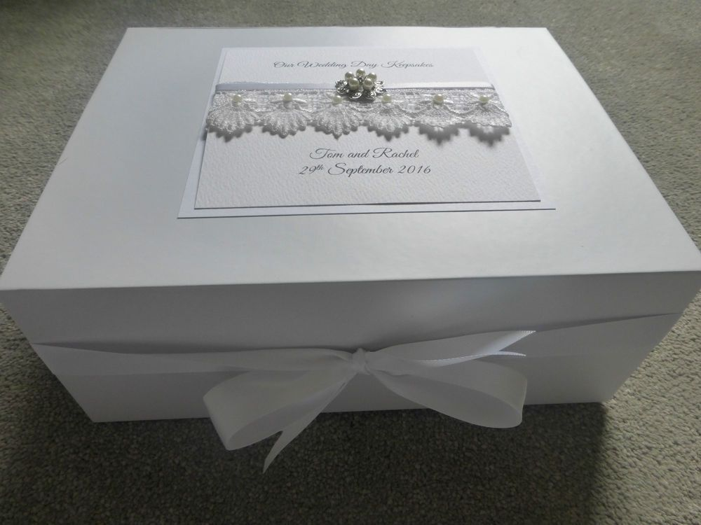 Details About Personalised Wedding Keepsake Box Luxury Large Memory