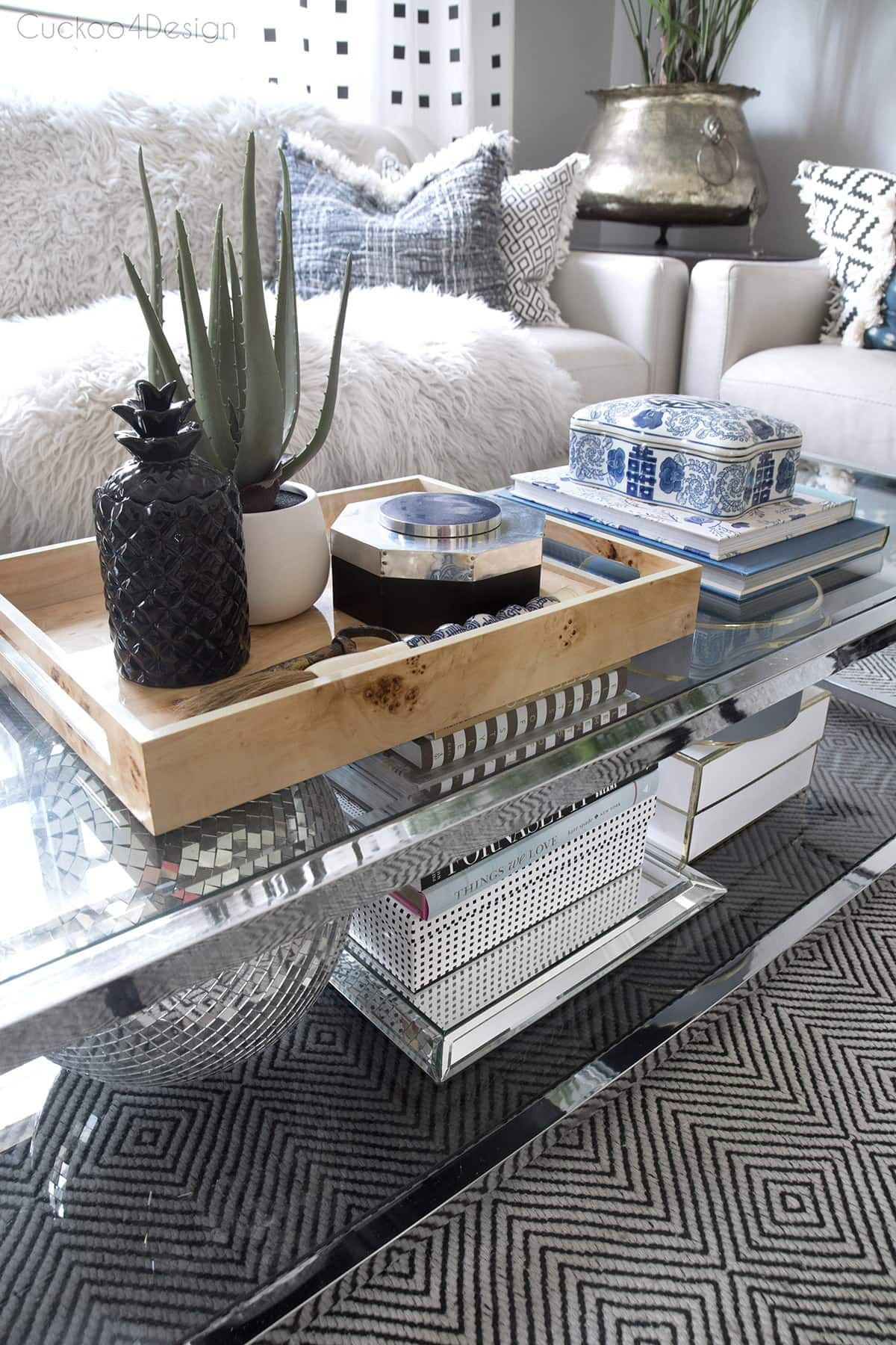 How To Style A Two Tier Coffee Table Coffee Table Centerpieces