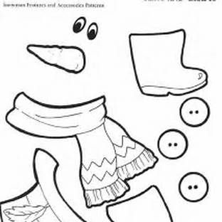 Face Parts Printable Snowman Patterns With Images Printable