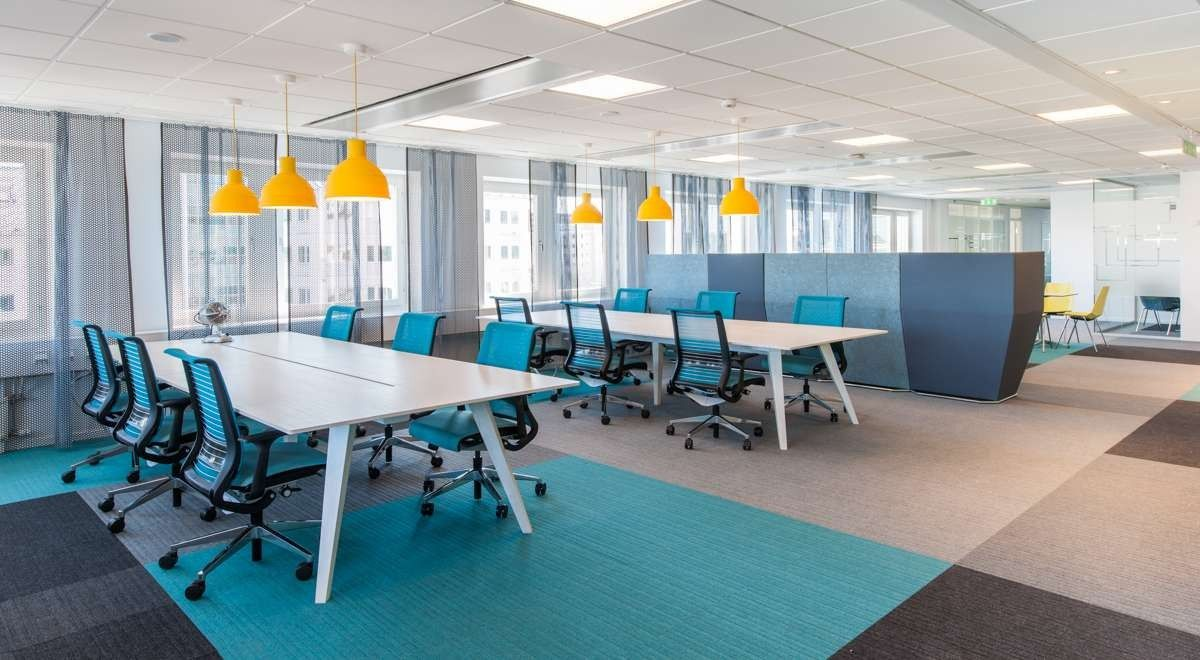 Burmatex Lateral Carpet Tiles Microsoft Offices Sweden