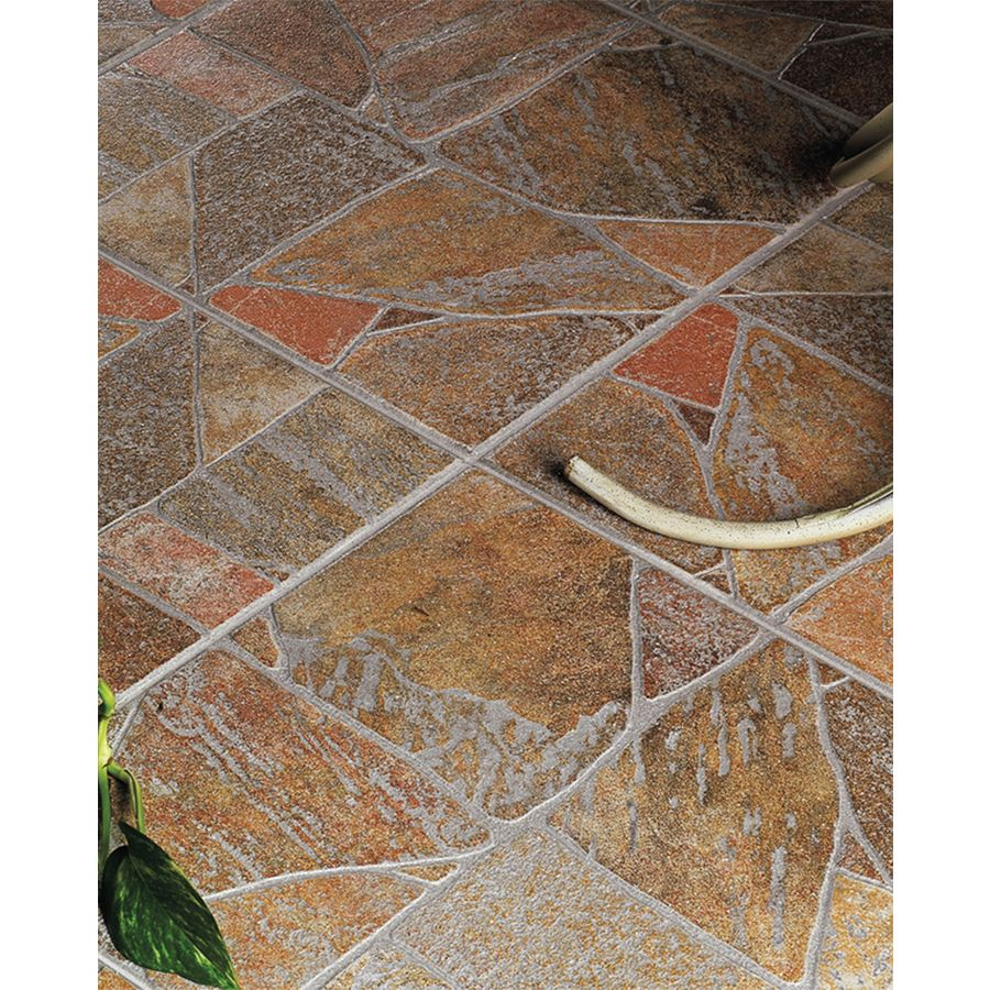 Floors 2000 Paladiana 11 Red Porcelain Floor Tile Common 13 In X