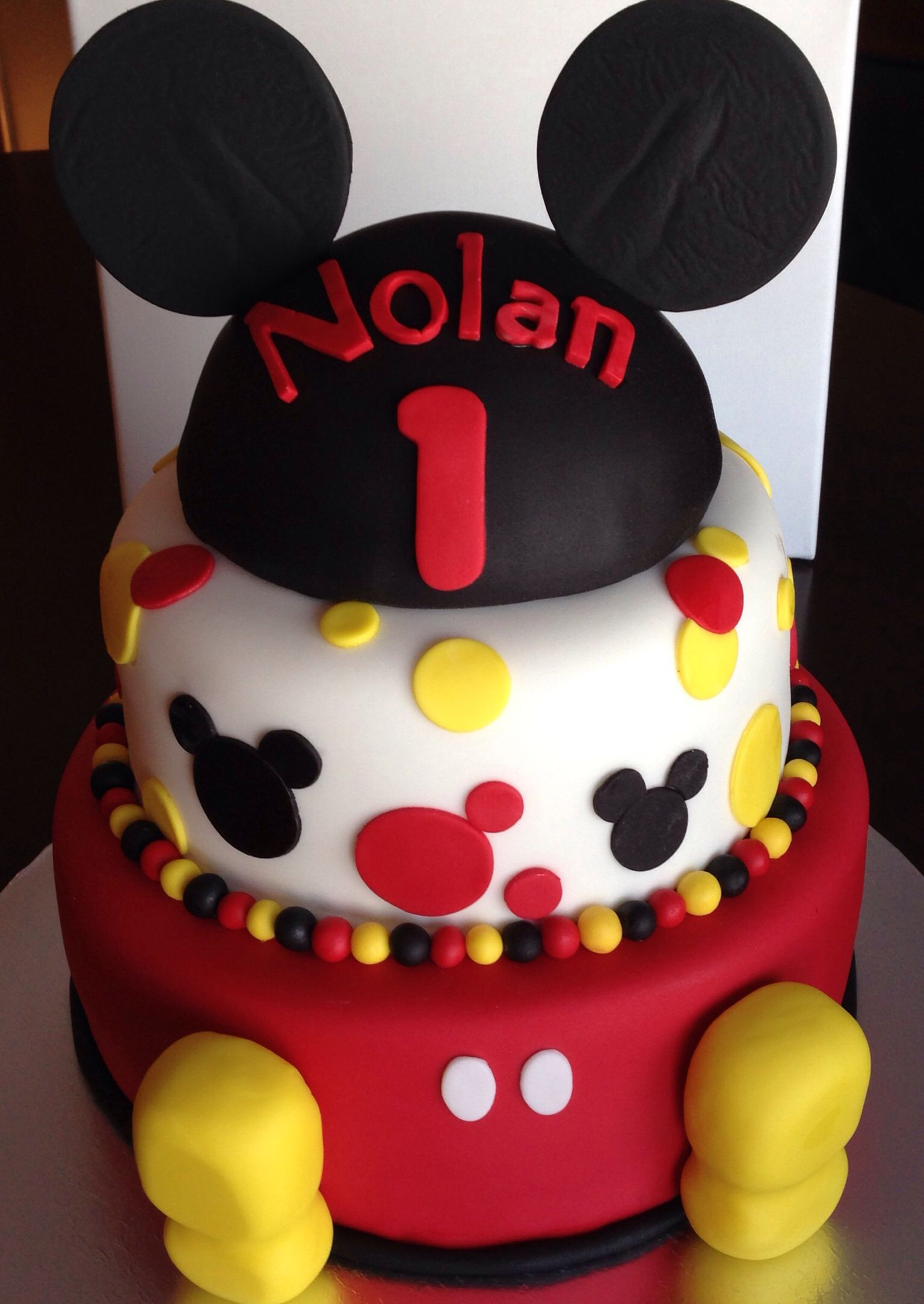 Mickey Mouse Birthday Cake Mickey Mouse First Birthday Mickey