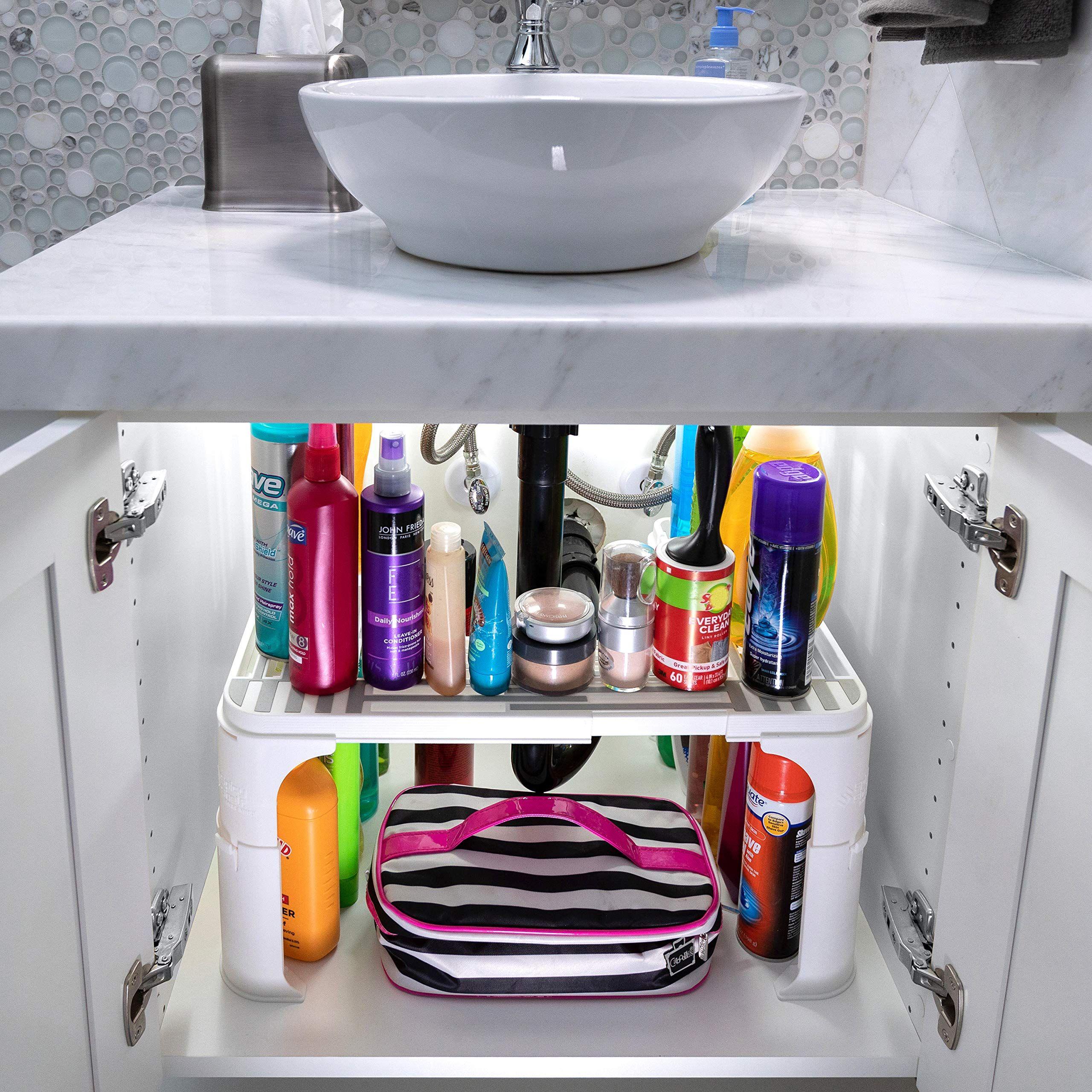 Expandable Under Sink Organizer And Storage Bathroom Under The Sink Organizer Kitchen Under Sink Shel Under Sink Storage Under Sink Organization Sink Storage [ 2560 x 2560 Pixel ]