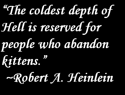 Robert Heinlein Quotes Robert Heinlein Quote About Kittens  Quotes About Kittens And Cats .