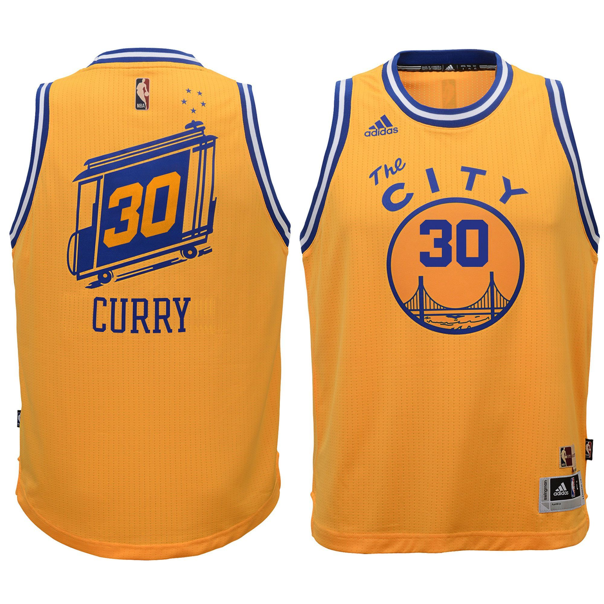 e6c8c9c043b Stephen Curry #30 Golden State Warriors Hardwood Classic Swingman Jersey -  Gold