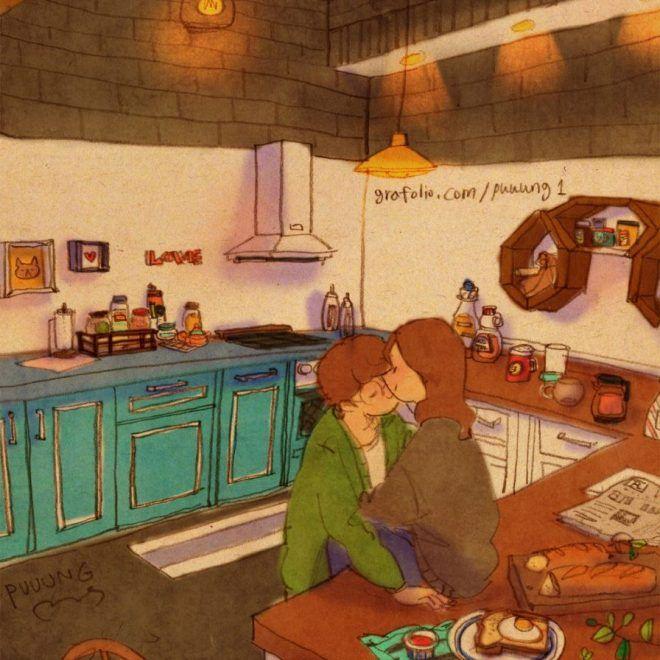 Une artiste sud-coréenne décrit la vie de couple à travers d'adorables illustrations