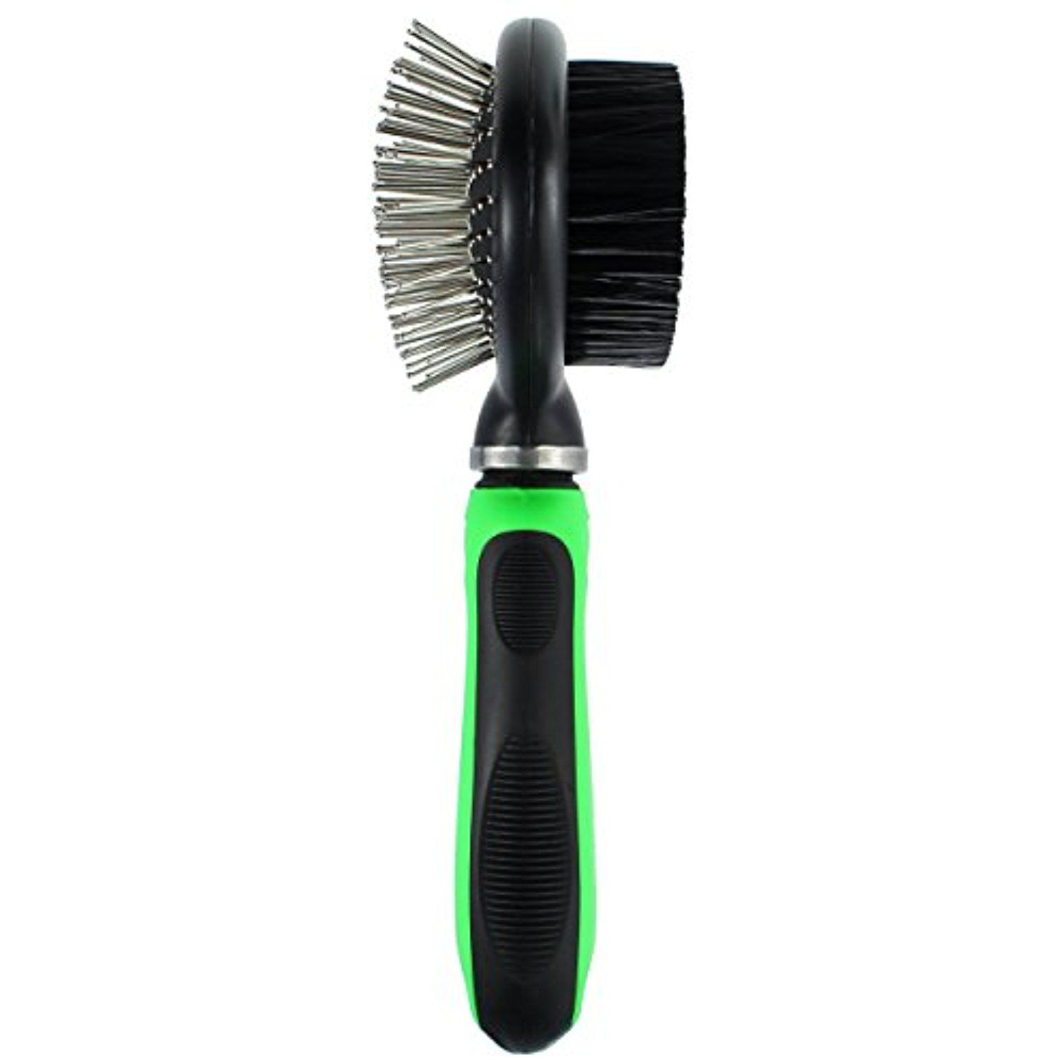 Pet Grooming Brush for Dogs and Cats with Long or Short Hair Dual 2 in 1 Pin and Bristle Quick and Easy to Use with Swivel Head for Extra Comfort by Fuzzy Family