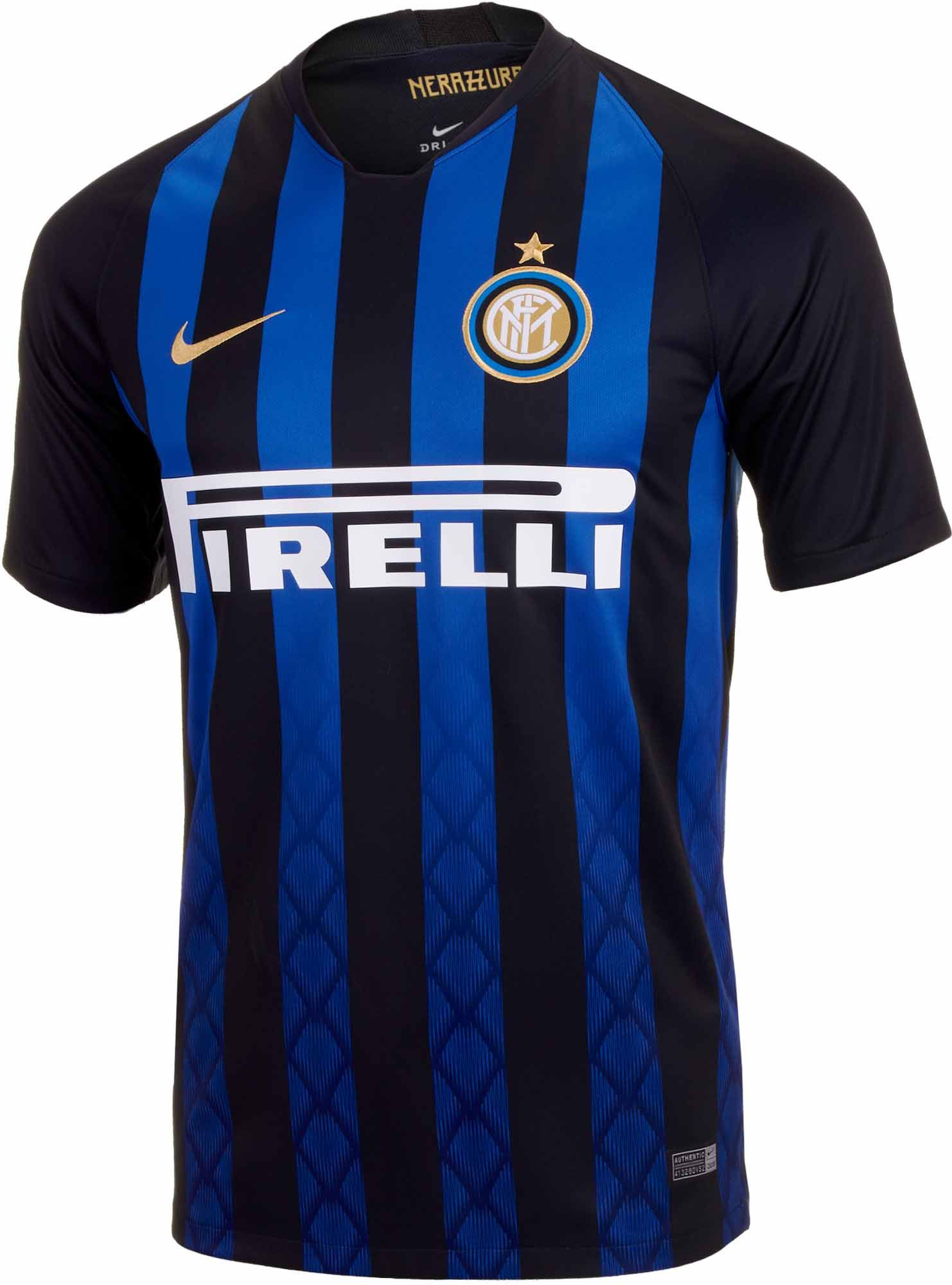 afdc6f47ef409 2018 19 Nike Inter Milan Home Jersey. Hot at www.soccerpro.com