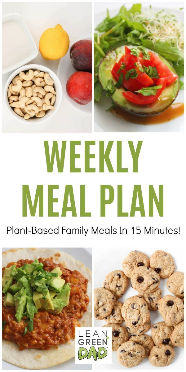 Weekly Meal Plan Featuring Quick And Easy Vegetarian Recipes