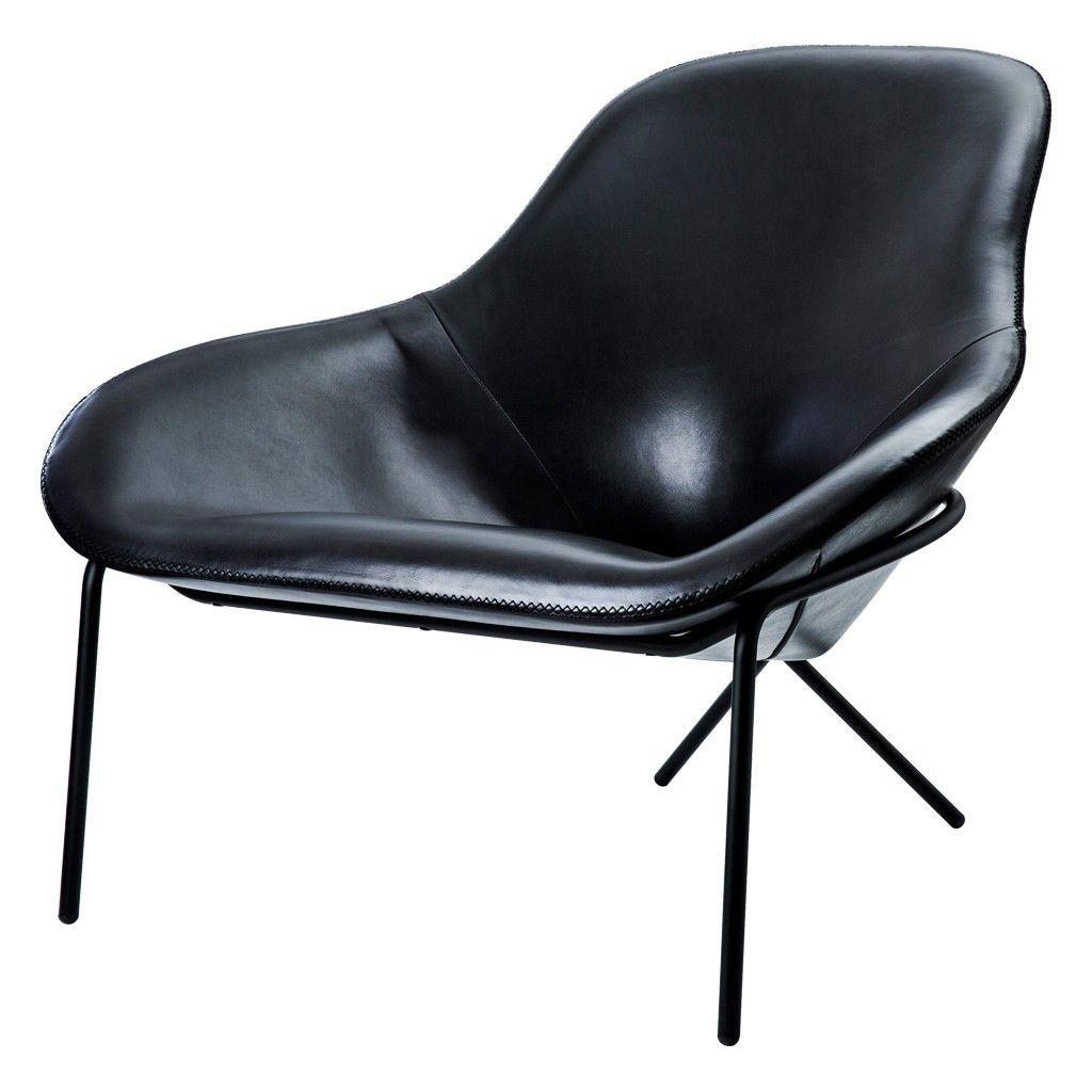 Cross Leg Lounge Chair Black Stonewash Leather Chair Leather Lounge Chair