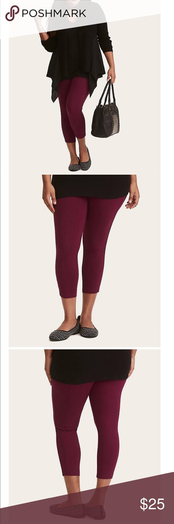 Torrid Nwot berry purple cropped luxe leggings 3 As comfy