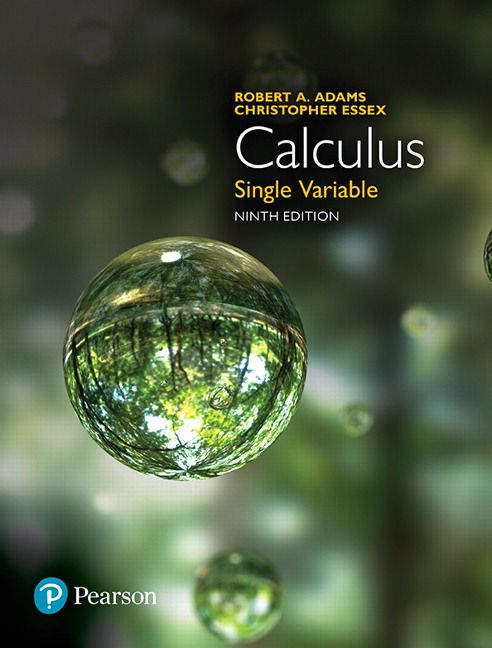 Calculus Single Variable Canadian 9th Edition Adams Test
