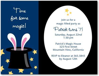 Magic party invitations celebrations pinterest magic magic party invitations stopboris Image collections