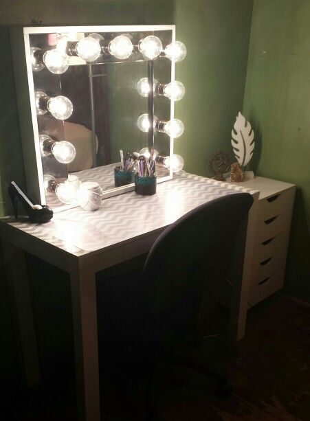 Vanity Mirror With Lights Walmart Gorgeous Diy Makeup Vanity Mirrorchevron Desk From Walmart And 5 Decorating Inspiration