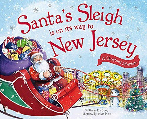 Santa S Sleigh Is On Its Way To New Jersey A Christmas Adventure Santa S Sleigh Is On Its Way A Christmas Adventure Santa Sleigh Magical Christmas Baby Invitations