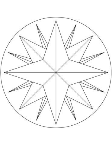 Free Printable Compass Rose Template Google Search Rose Coloring Pages Compass Rose Barn Quilts