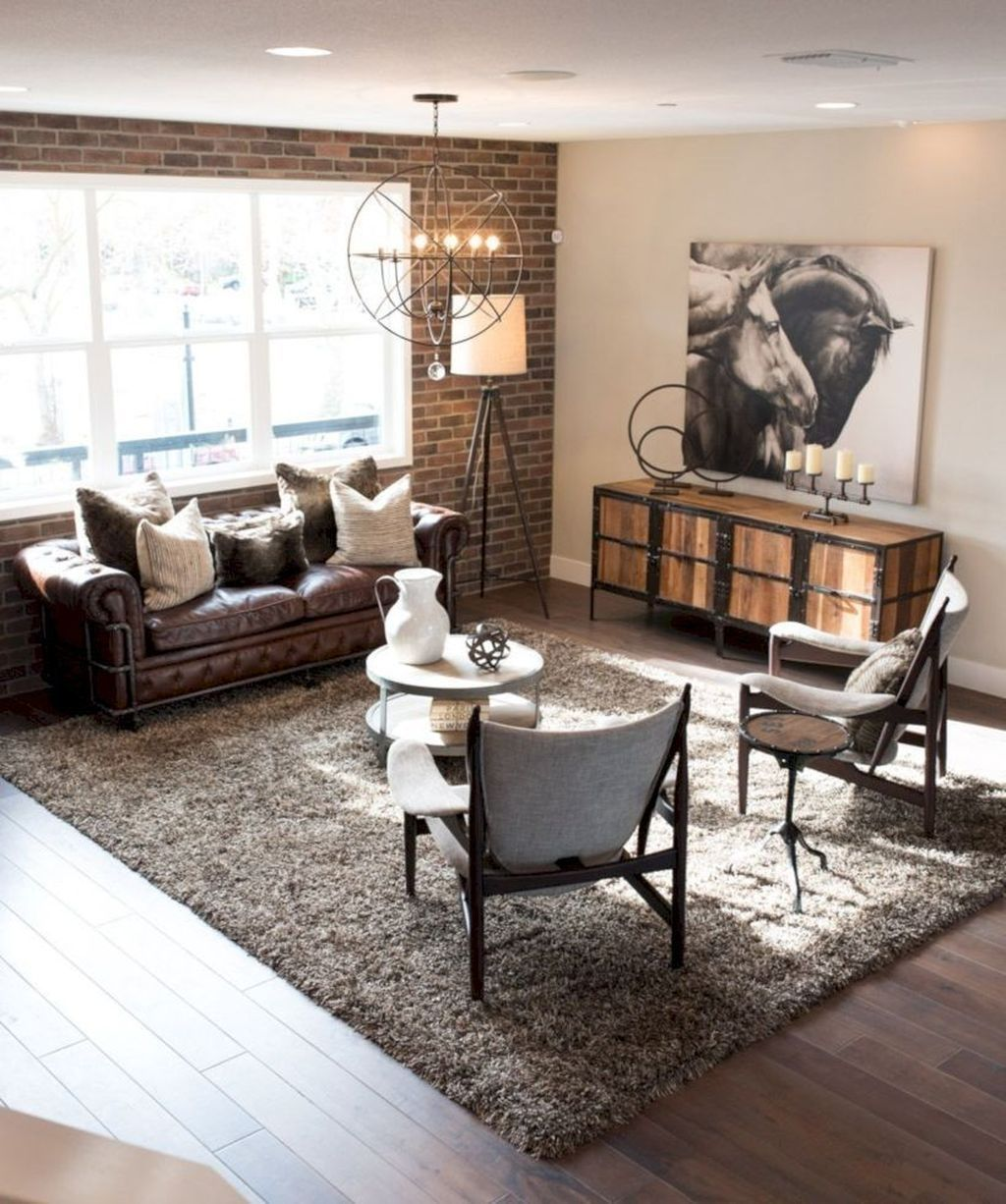 48 Inspiring Living Room Ideas For Small Space Homyhomee Rustic Industrial Living Room Industrial Living Room Design Industrial Decor Living Room