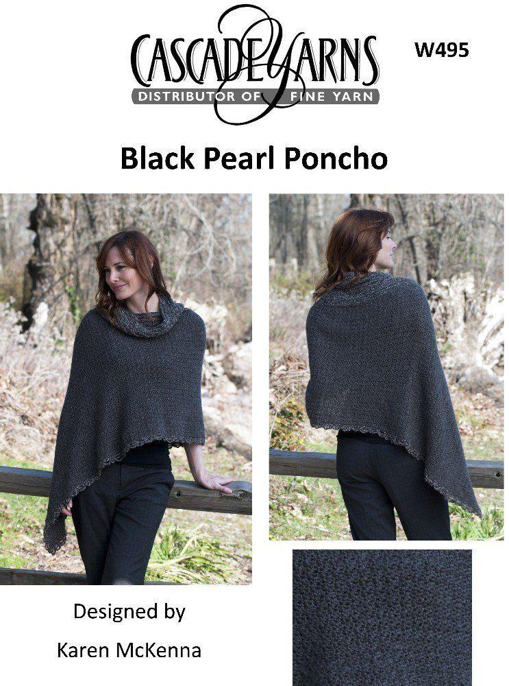 b7dcda7bab3dd Black Pearl Poncho in Cascade Eco Alpaca - W495. Discover more Patterns by  Cascade Yarns