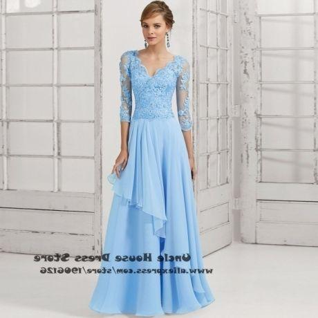 Light Blue Mother of the Bride Dresses