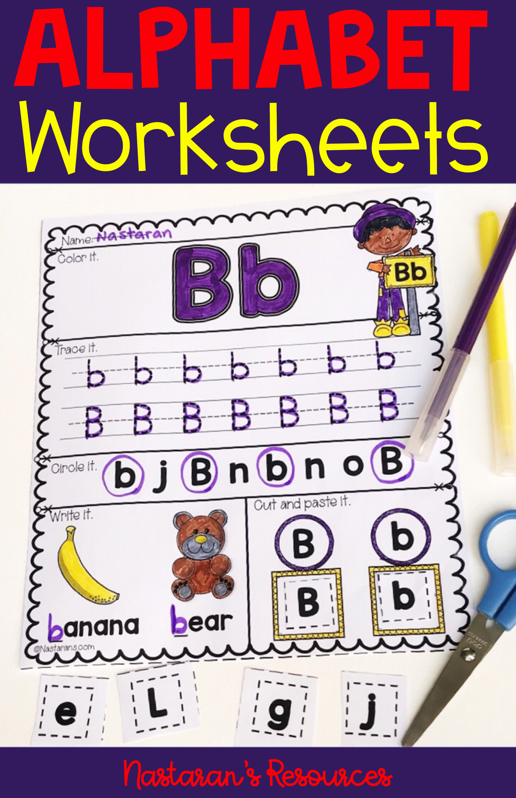 Alphabet Worksheets For Kindergarten