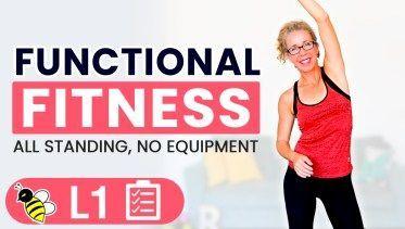 25 Minuten FUNKTIONAL Fitness Körpergewicht Kraft- und Mobilitätstraining für Frauen über 50 • Pahla...