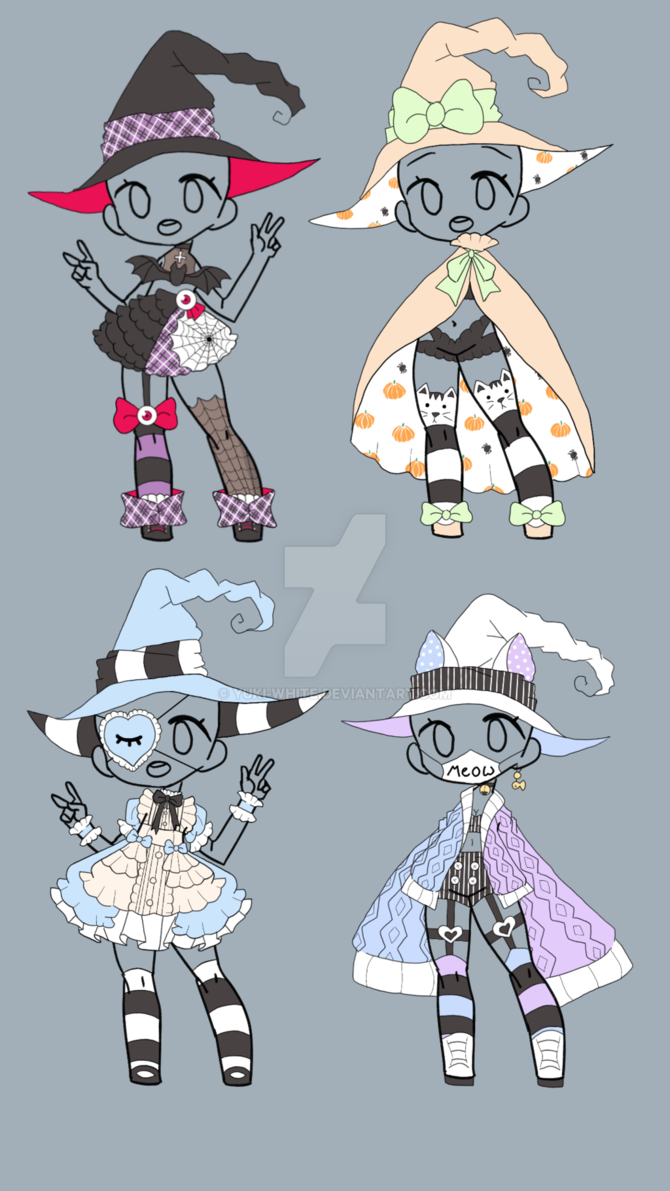Witch Outfit Adopt [Closed' by yukiwhite Drawing anime