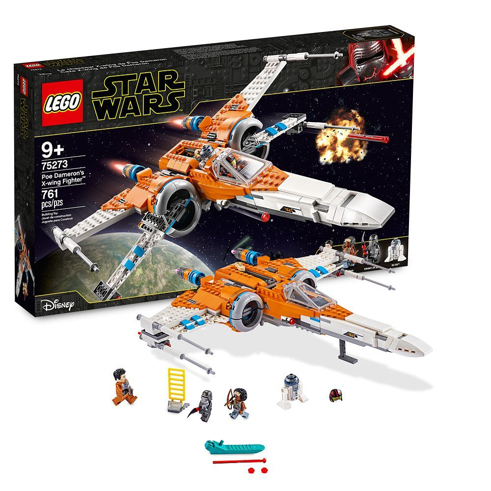 Poe Dameron S X Wing Fighter Building Set By Lego Star Wars The Rise Of Skywalker Shopdisney Lego Star Wars X Wing Fighter Poe Dameron X Wing