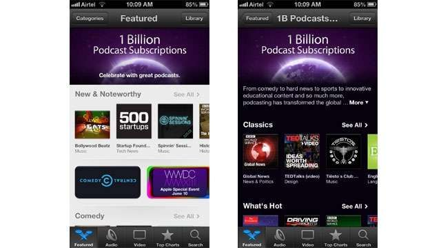"""""""But the heart of podcasting is finding your favorite voices in this exciting field and subscribing to the best ones,"""" added Apple. It has highlighted some of the most popular podcasts of all time in a new section, as well as shifted the limelight on to some """"captivating"""" new shows in iTunes."""