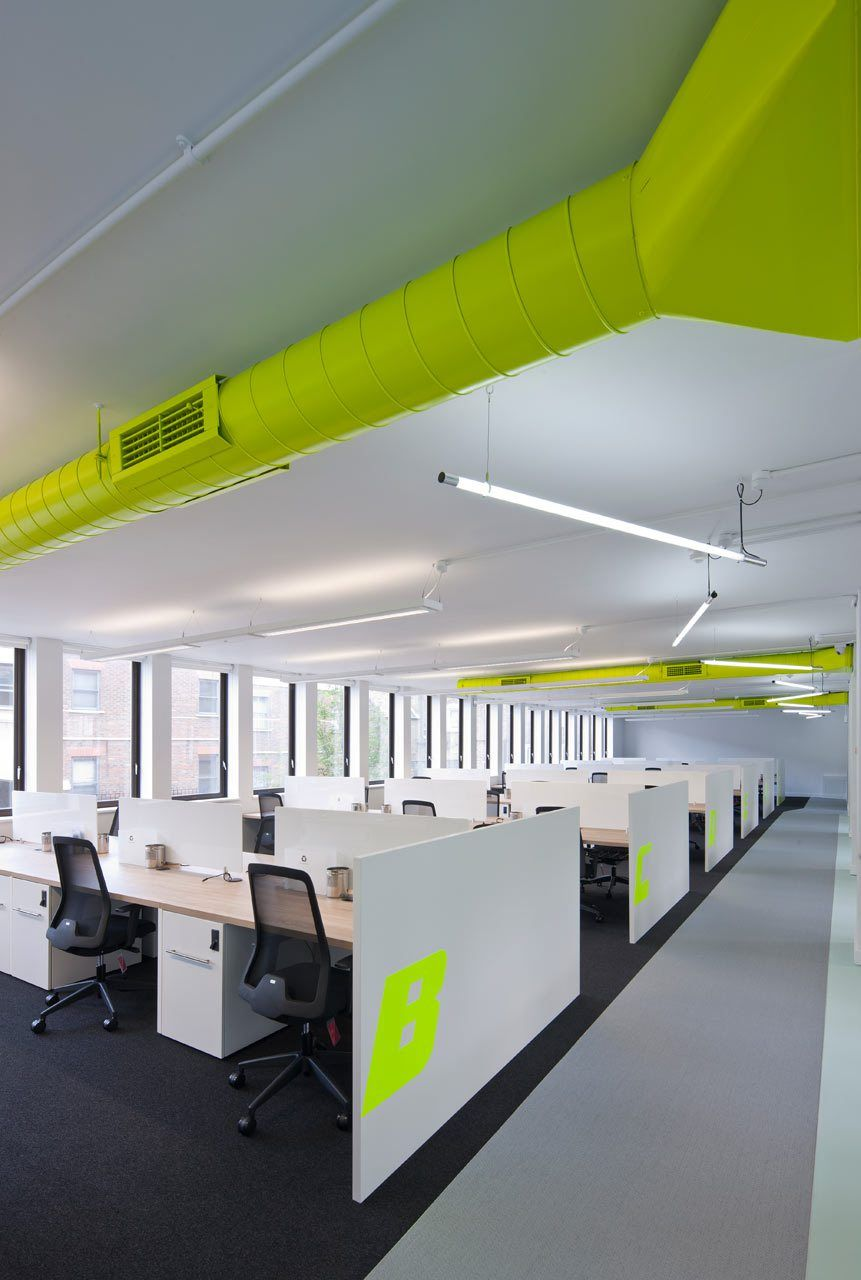 office design interior. Delighful Design Painted Exposed Ductwork In Office Design Interior