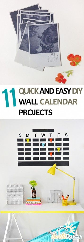 11 quick and easy diy wall calendar projects solutioingenieria Gallery