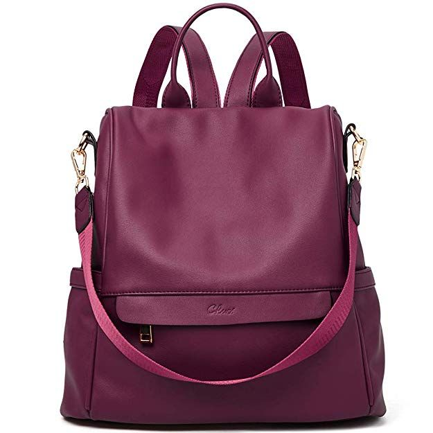 b650099ee5 Women Backpack Purse Fashion PU Leather Waterproof Anti-theft Large Travel  Bag Ladies Shoulder School Bags wine red red backpack for women   backpackreview ...